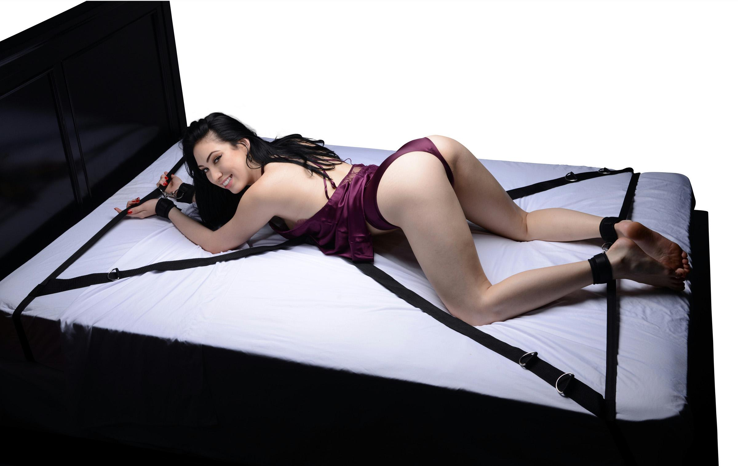 Sex And Mischief Bling Hand Cuffs, Fetish Bondage Bedroom Play